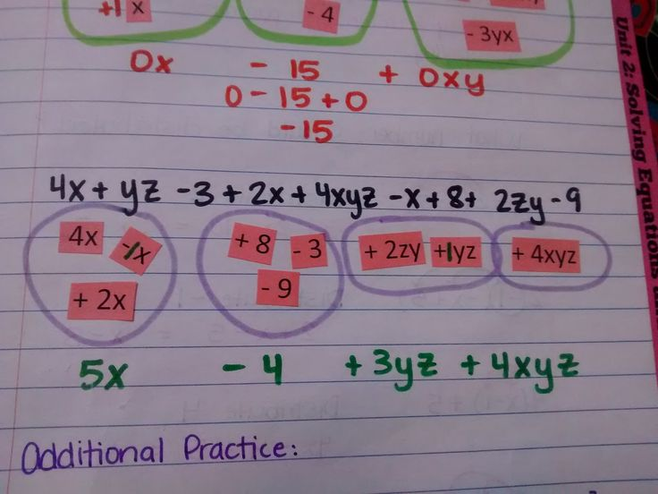 46 best combining like terms images on Pinterest | Common core ...