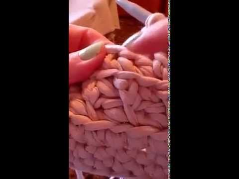 Punto bajo triple para bolso de ganchillo - YouTube