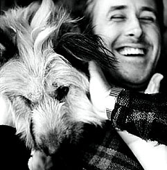Ryan Gosling and George. As if he couldn't get any prettier!