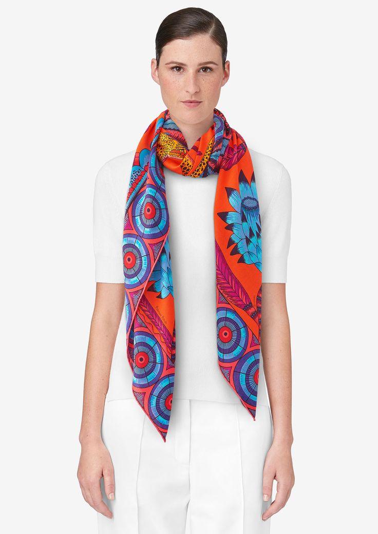 Sjaal 140 x 140 cm Hermès | The Savana Dance