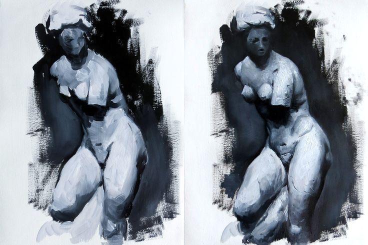 Sculpture oil study by Magdalena Dymańska
