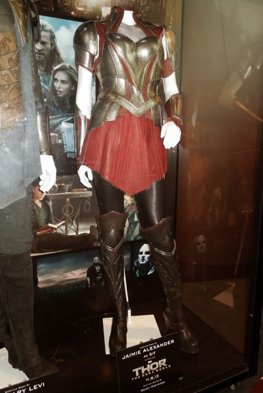 Original battle armour costume worn by Jaimie Alexander as ...