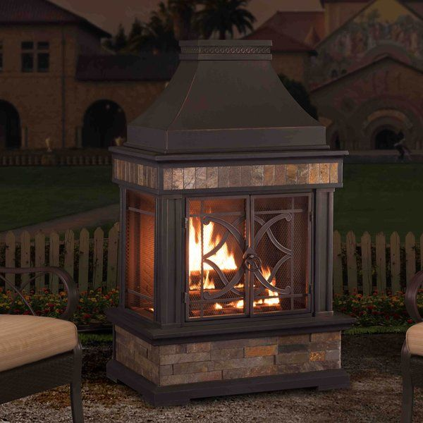 You Ll Love The Heirloom Steel Wood Burning Outdoor Fireplace At Wayfair Great Deals On All Outdoor Products W Patio Fireplace Patio Gazebo Outdoor Fireplace
