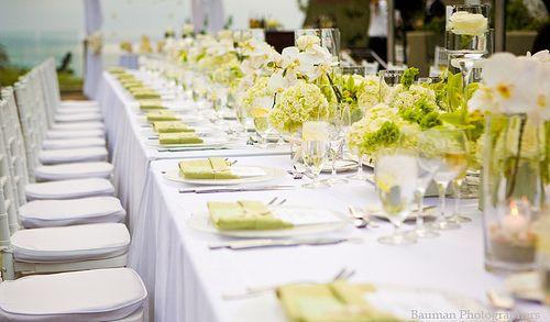 Un mariage vert anis et blanc ivoire - Décoration mariage ...