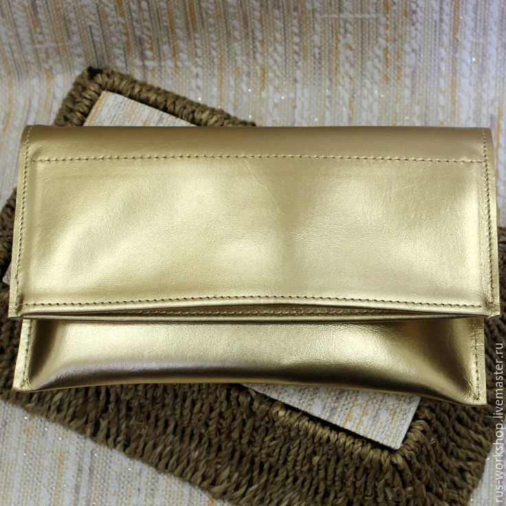 Купить Золотой клатч - золотой, клатч, клатч ручной работы, клатч из натуральной кожи