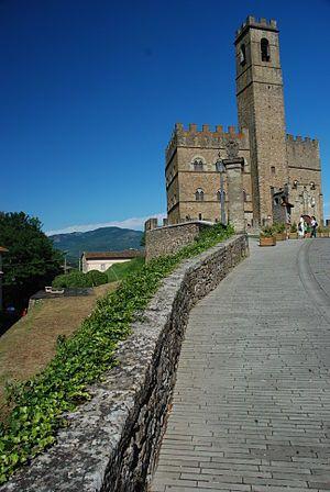 Poppi Castle (Italian: Castello di Poppi, or the Castello dei Conti Guidi) is a medieval castle in Poppi, Tuscany, Italy, formerly the property of the noble family of the Conti Guidi.