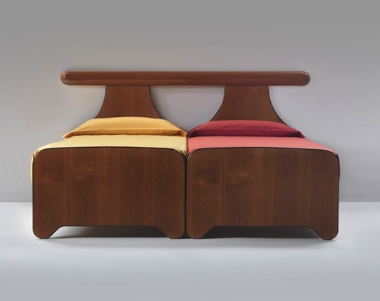 The Panchina bed designed by Luigi Caccia Dominioni http://suiteny.com/