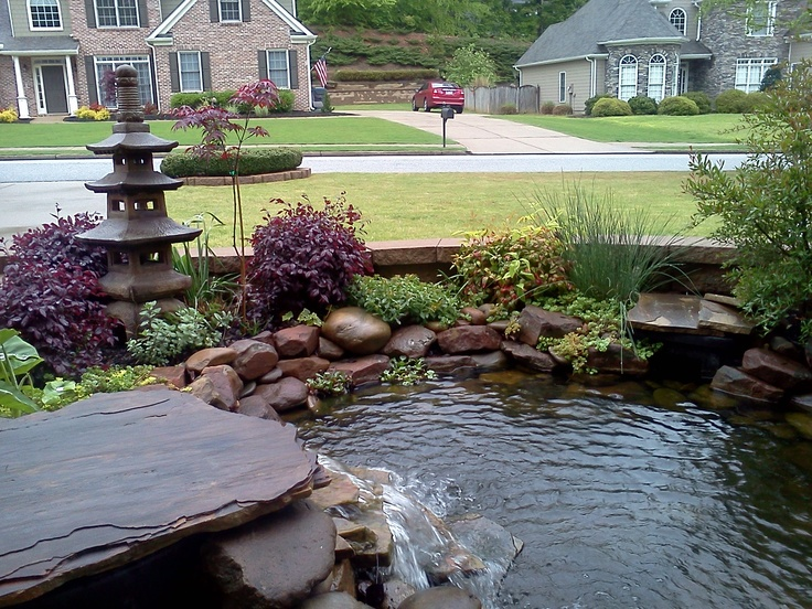 Koi pond ponds pinterest discover more ideas about for Koi pond plant ideas