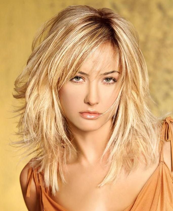 medium length layered hairstyles..