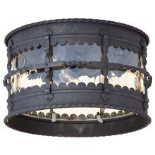 View the The Great Outdoors GO 8889 Traditional / Classic 3 Light Outdoor Flush Mount Ceiling Fixture from the Mallorca Collection at LightingDirect.com.