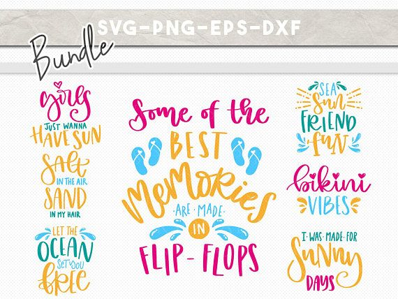 Summer svg bundle, summer quotes cut files, beach clipart, handlettered svg, dxf png, ocean fun bikini flipflop, iron on cricut downloads summer svg bundle, summer quotes cut files, beach clipart, handlettered svg, dxf png, ocean fun bikini flipflop, iron on cricut downloads SAVE BIG! GET 7 SVG DESIGNS! PLEASE NOTE THIS IS A DIGITAL FILE AND NO PHYSICAL ITEMS WILL BE SHIPPED. Due to the nature of printable digital