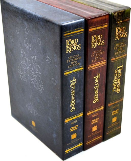 Lord of the Rings: Motion Picture Trilogy Extended 12 DVD Set