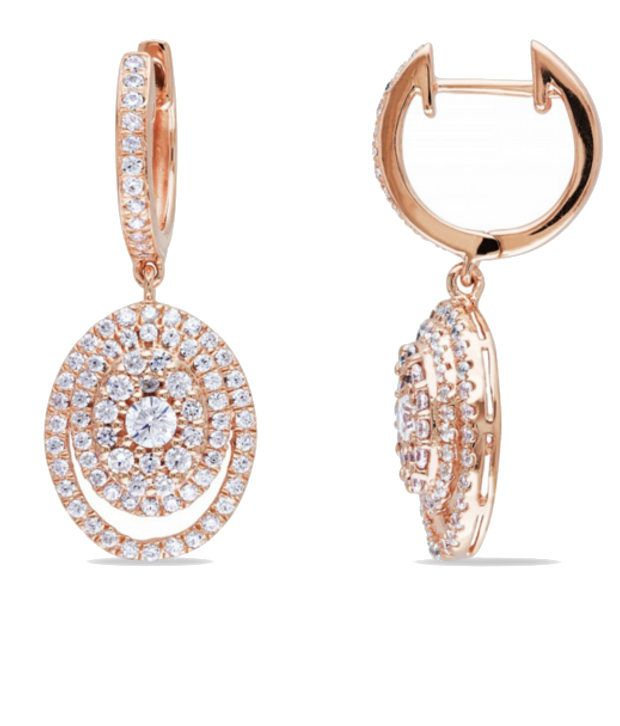 Ziveg Attractive Round 92.5 Sterling Silver Earrings Made With Swarovski Zirconia, http://www.snapdeal.com/product/ziveg-attractive-round-925-sterling/1321235604