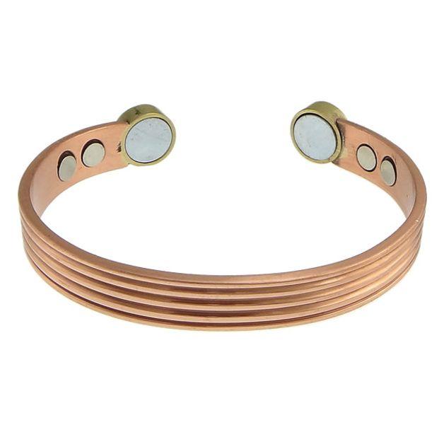 Armreife - Neu Magnetarmband Kupfer Armreif 6 Magnete Armband - ein Designerstück von Astrid--Fuchs bei DaWanda