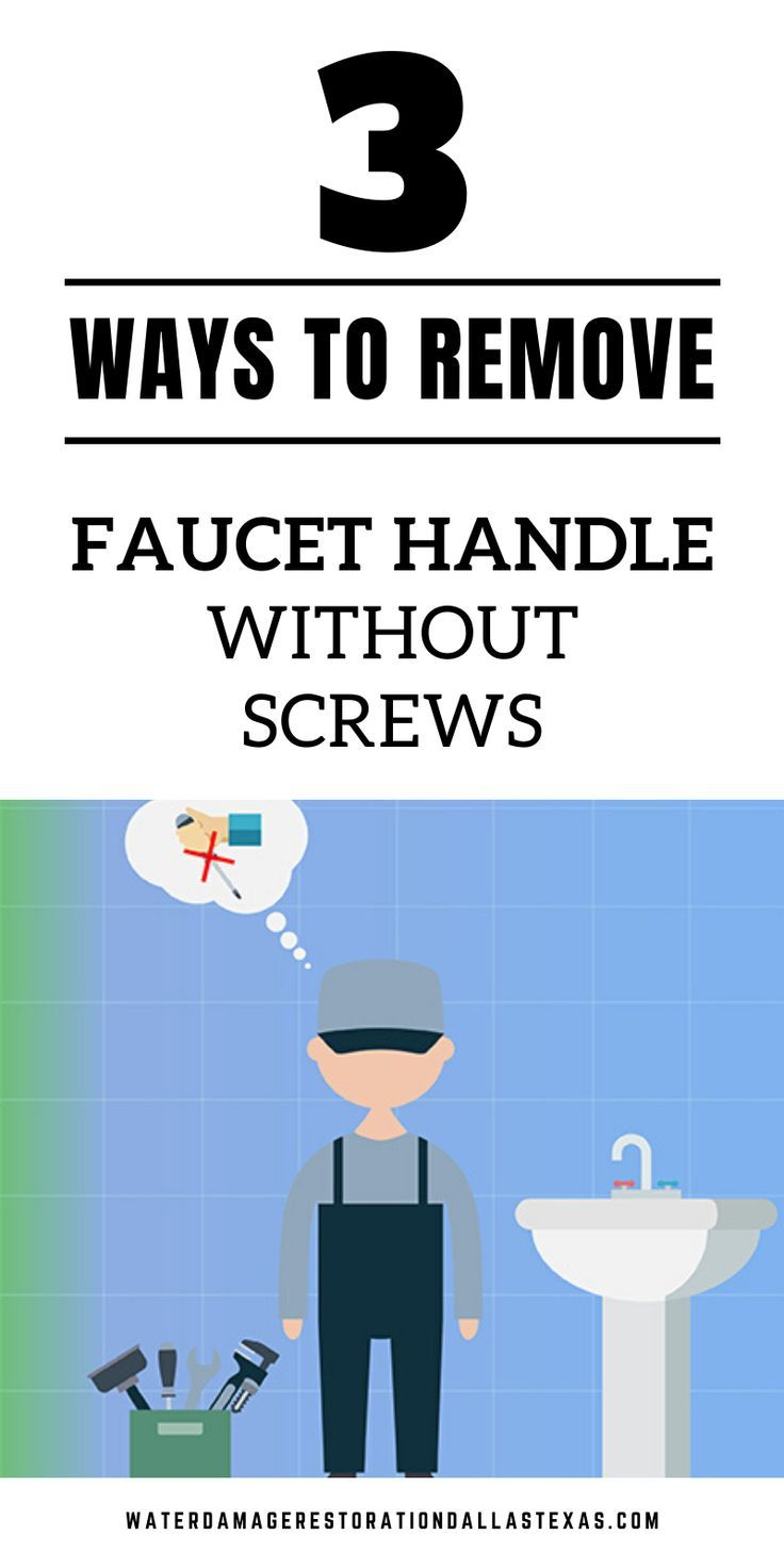 3 Ways To Remove Faucet Handle Without Screws Faucet Handles Faucet How To Remove