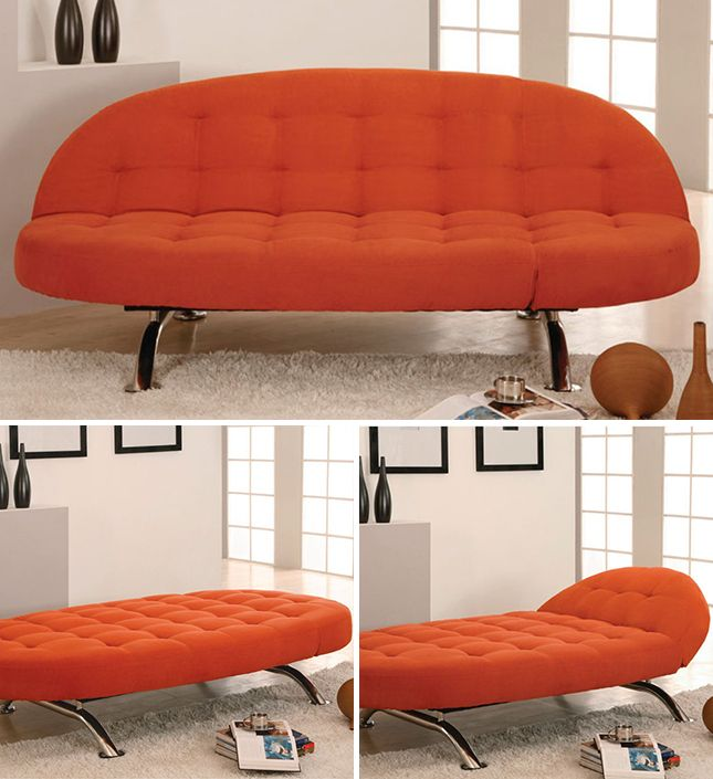 10 Sleeper Sofas That Don't Suck via Brit + Co. Capitola Convertible Chaise ($560)looking at style not color