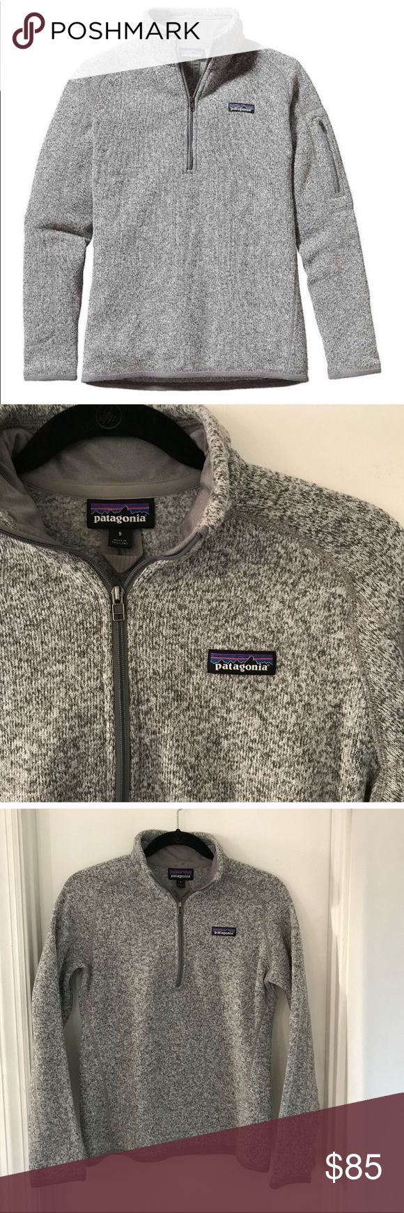Patagonia Better Sweater 1/4 Zip Small Covered color, Birch white, like new! Reasonable offers accepted. Smoke/pet free home. No trades. Patagonia Jackets & Coats