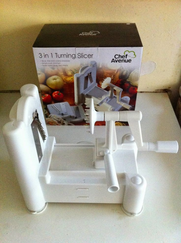 Chef Avenue 3 in 1 Turning Slicer. Spiraliser. Zucchini noodles. Zoodles. Paleo noodles