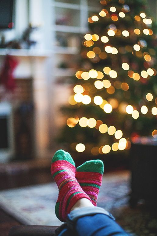 Could be a cute family photo with everyone's feet in holiday socks. Oh...tradition idea - new socks every eve for a photo!