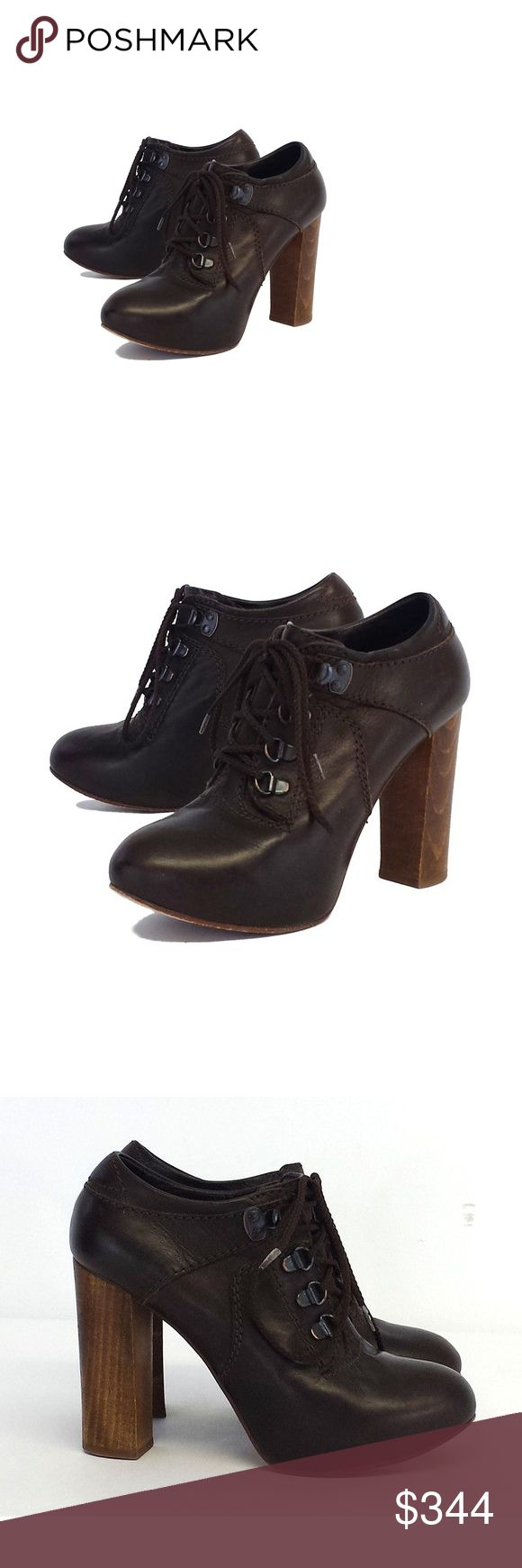 Chloe- Brown Leather Lace Up Ankle Booties Sz 6.5 Chloe is a French fashion house that has been in the business for decades.  Chloe prides itself in luxury ready-to-wear styles.  Along with their ready-to-wear line, they also offer accessories, formal wear, fragrances and See by Chloe. Chloe Shoes Ankle Boots & Booties
