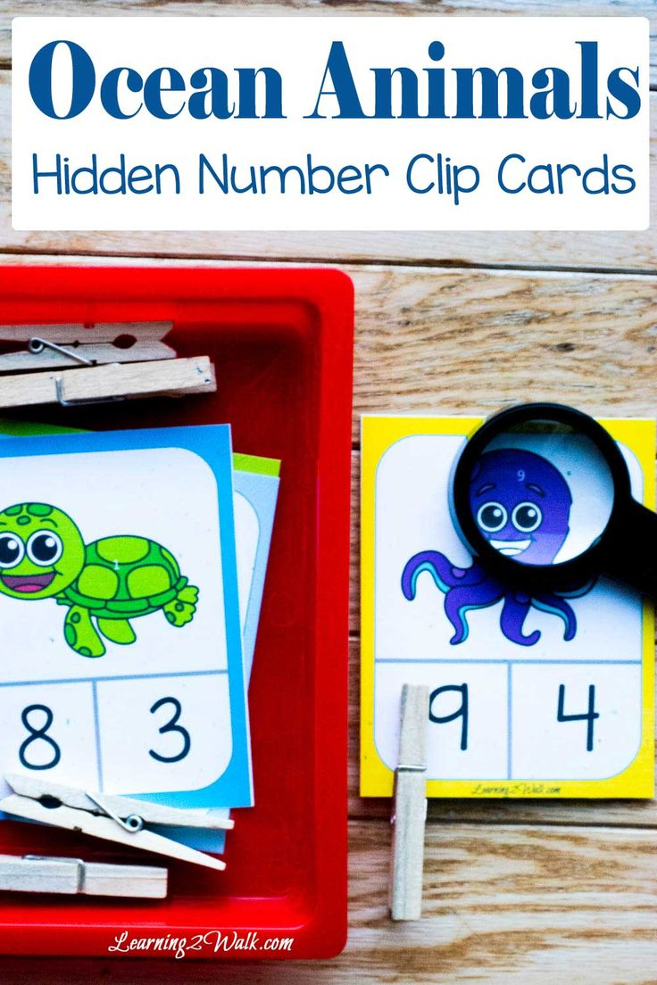 Absolutely love these adorable ocean number clip cards! They are great for number identification as well as fine motor skills development.