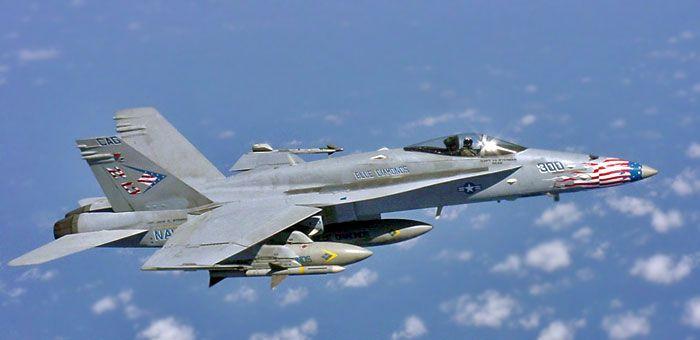 FA-18 Hornet Jet Fighter Plane