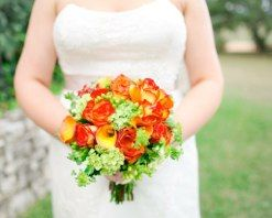 Circus Roses, Mango Calla Lilies, Mini Green Hydrangea, and Bupleurum<br />Photography By: Al Gawlik Photography