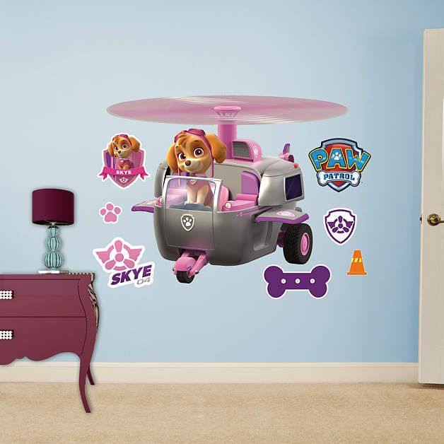 Fathead Paw Patrol Skyes Helicopter Wall Decal   Wall Sticker Outlet