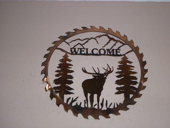 saw blade plasma art. metal saw blade elk welcome sign by harveymrh on etsy, $75.00 | projects pinterest elk, and metals plasma art