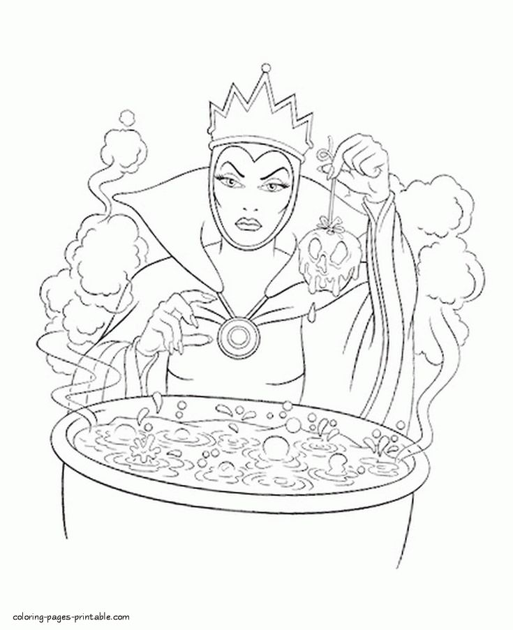 516 best images about disney coloring book on pinterest for Evil queen coloring pages