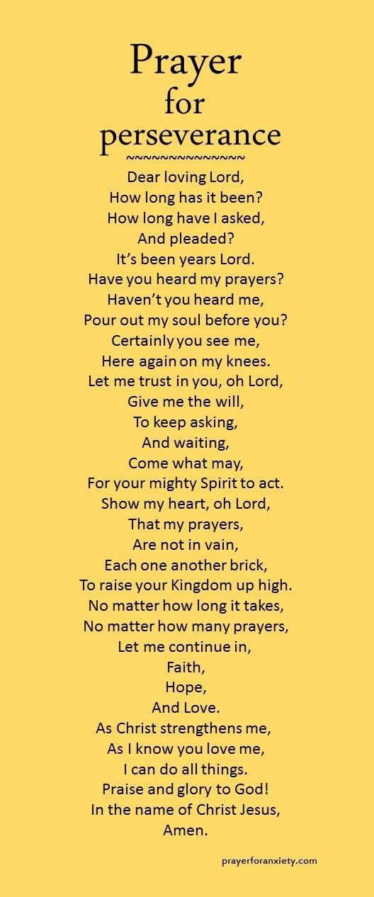 This prayer for perseverance can help you seek God when you feel like you can't go on any longer. Trust in the faithfulness of Christ.