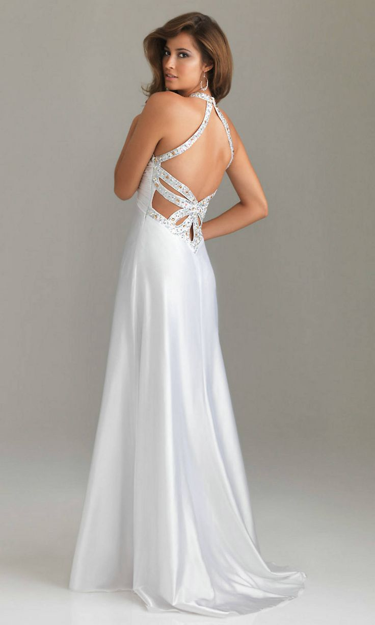 Lo lo lord and taylor party dresses - Open Back Sequin Long Halter Natural V Neck Elegant White Prom Dresses Sexy Prom Dresses