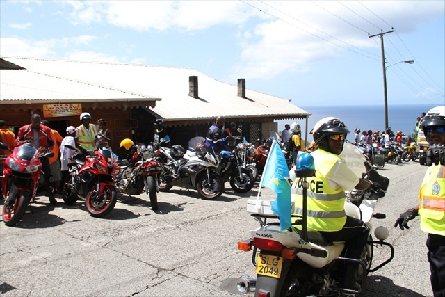 """""""Well policed"""" St Lucia's independence day ride 2013"""