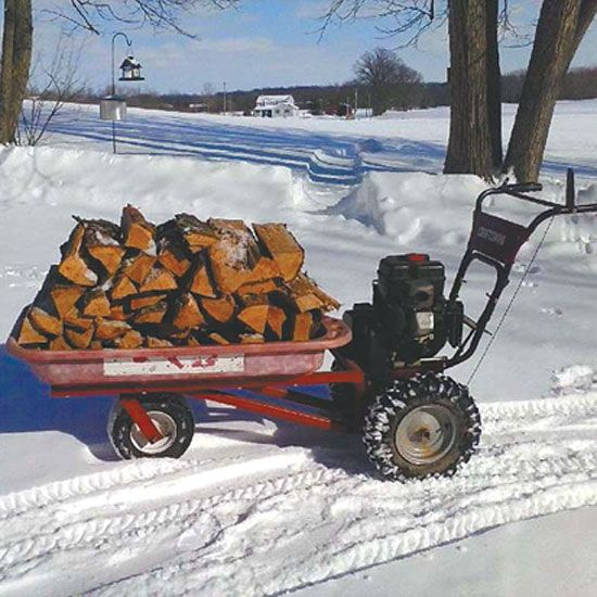 Turn A Snowblower Into A Wood Hauler Tools Grit