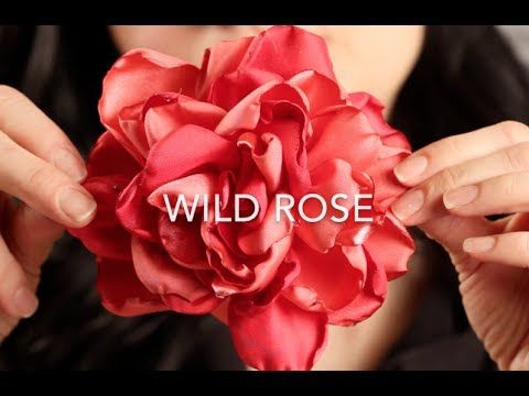 How To Make A Fabric Hair Flower | Beautiful Wild Rose! - YouTube