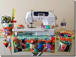 Sew Busy Organizer free pattern on Moda Bake Shop using Gina Martin's Sewing Box fabric line.