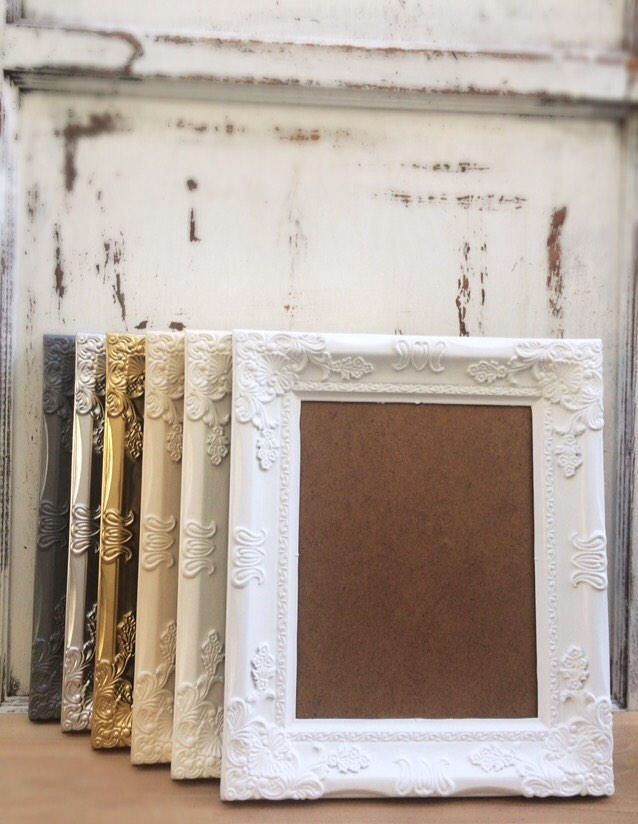 8x10, Baroque Picture Frame, Shabby Chic, French Country, Ornate, Vintage Antique Style, Photo, Wedding, Nursery, Home, Wall Decor by TownTrustican on Etsy https://www.etsy.com/uk/listing/528554815/8x10-baroque-picture-frame-shabby-chic