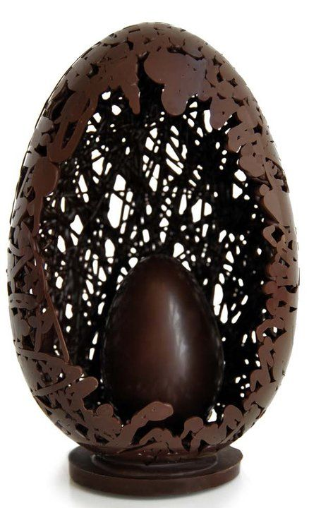 Chocolate egg within an egg