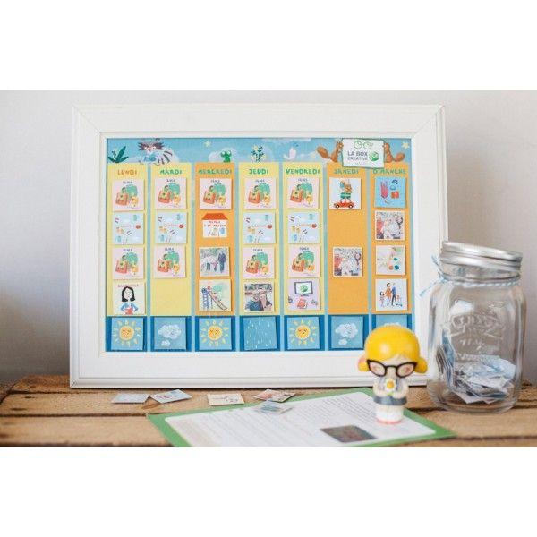 kit pour fabriquer un semainier magn tique tiniloo calendrier pour enfants pinterest. Black Bedroom Furniture Sets. Home Design Ideas