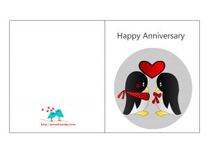 Elegant Free Printable Happy Anniversary Card With Free Printable Anniversary Cards For Her