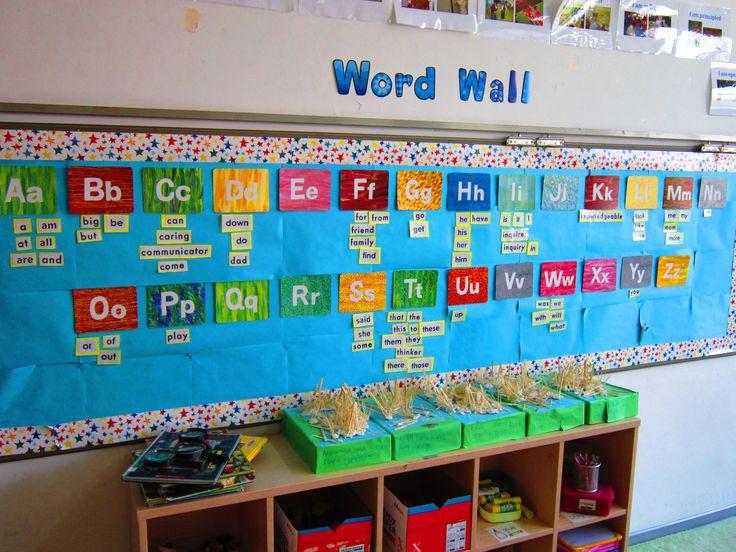 Kindergarten word wall, eric carle