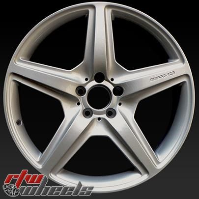 """Mercedes S63 wheels for sale 2008-2010. 20"""" Silver rims 85028 - http://www.rtwwheels.com/store/shop/mercedes-s63-wheels-for-sale-20-silver-85028/"""