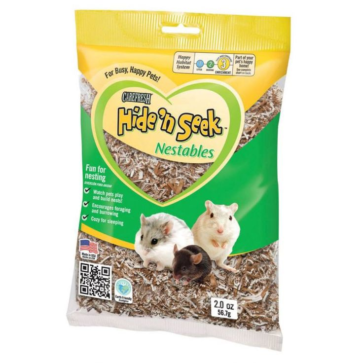 Carefresh Hide 'n Seek Desert Nestables are great fun for small pets that are natural nest builders, like mice, hamsters, gerbils, rats, ferrets and birds. Because it's soft and springy, it's perfect for nesting, sleeping and decorating. Just put a handful in the habitat and watch your pet play!