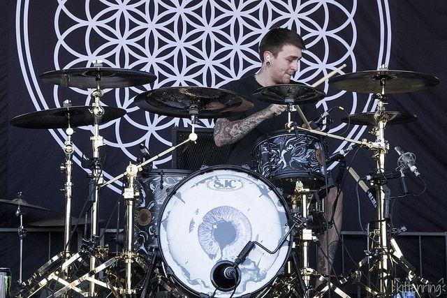 Matt Nicholls of Bring Me The Horizon Warped Tour 2013 : u00a1! Drums u00a1! : Pinterest : Warped tour