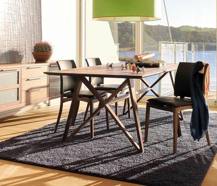 Moderne Esszimmer Möbel Sets  Holztisch Und Lederstühle