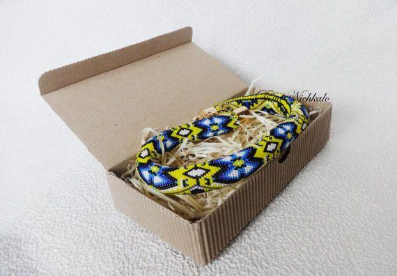 Bead Crochet Necklace Bohemian Necklace Trendy Necklace Unique