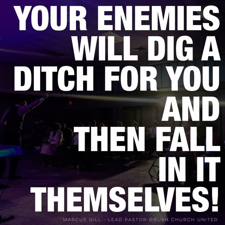 If you set a trap for others, you will get caught in it yourself. If you roll a boulder down on others, it will crush you instead. •Psalm 26:27 NLT  He hath made a pit, and digged it, And is fallen into the ditch which he made. •Psalm 7:15 ASV