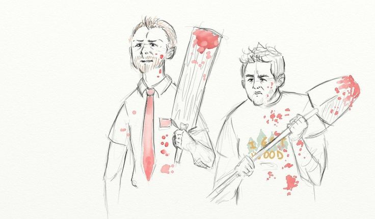 Shaun Of The Dead, cornetto 1 by madameLouise on DeviantArt