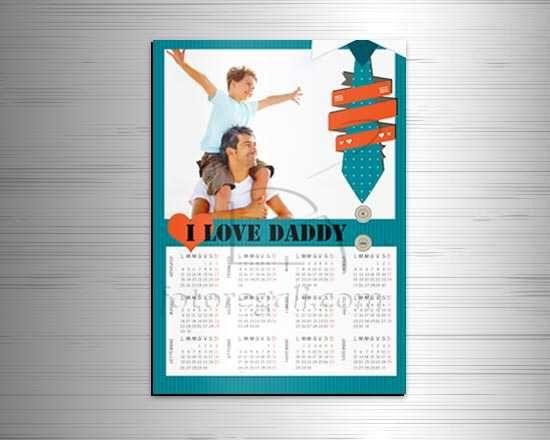 Calendario magnetico A3 Love Daddy