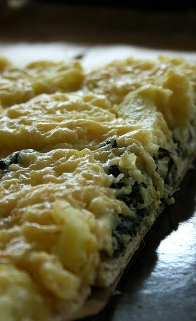 vegetarische Spinat-Kartoffel-Tarte/ Vegetarian Spinach and Potato Tart